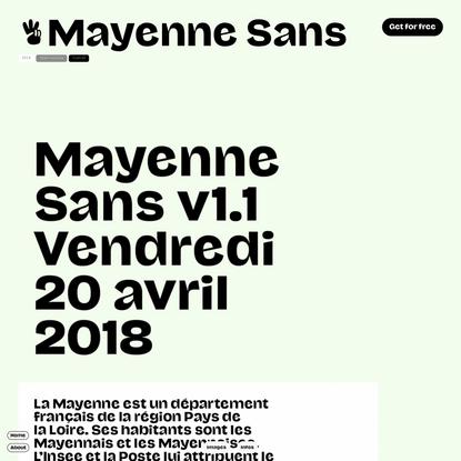 Mayenne Sans
