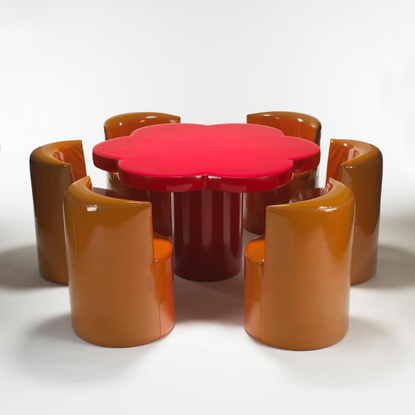 "The Millie Vintage on Instagram: ""Giuseppe Raimondi & Ugo Nespolo ""Margherita"" table set for Gufram, 1966❤️ Via the amazing,..."