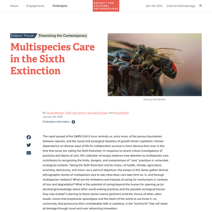 Multispecies Care in the Sixth Extinction