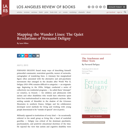 Mapping the Wander Lines: The Quiet Revelations of Fernand Deligny - Los Angeles Review of Books