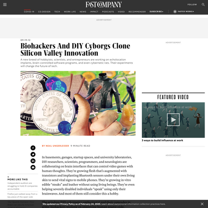 Biohackers And DIY Cyborgs Clone Silicon Valley Innovation