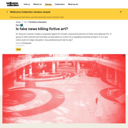 Is fake news killing fictive art?