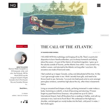 The call of the Atlantic - The Newfoundland Quarterly