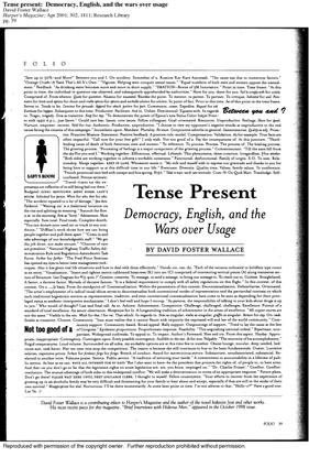 DFW Tense Present