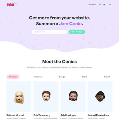 Jam Genies: Get expert help on your website