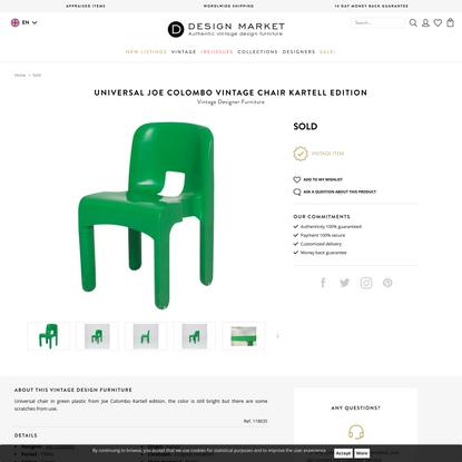 Universal Joe Colombo vintage chair Kartell edition - Design Market