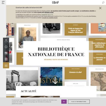 En ce moment | BnF - Site institutionnel