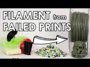 Recycle your failed 3D prints! Make new filament at home.