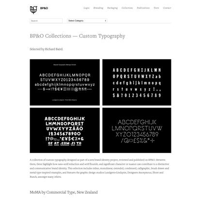 The Best Custom Typography — BP&O
