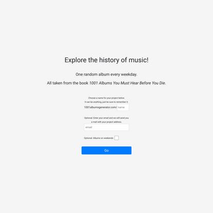 1001 Albums Generator