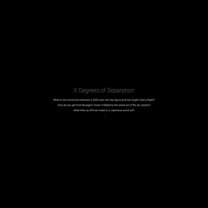 Google Arts & Culture Experiments - X Degrees of Separation by Mario Klingemann