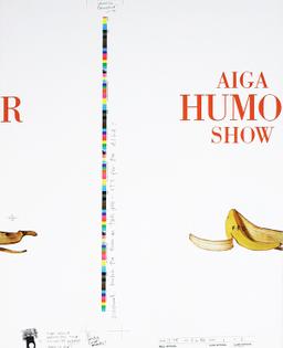 Alexander Isley w/ Tibor Kalman, AIGA Humor Show poster (1986)