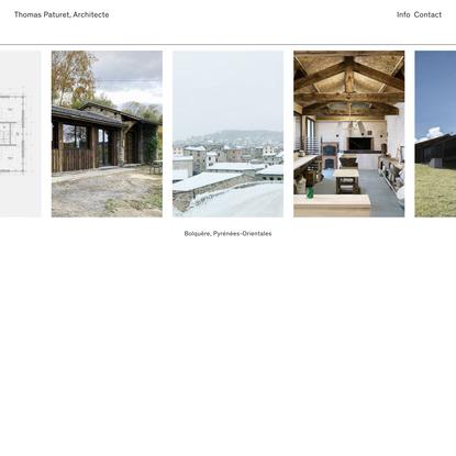 Thomas Paturet, Architecte — Rénovation, Extension & Construction