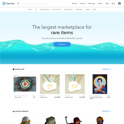OpenSea: Buy Crypto Collectibles, CryptoKitties, Decentraland, and more on Ethereum