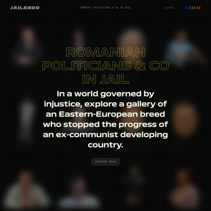 Jailando - Corrupt Romanian Politicians & Co Gallery