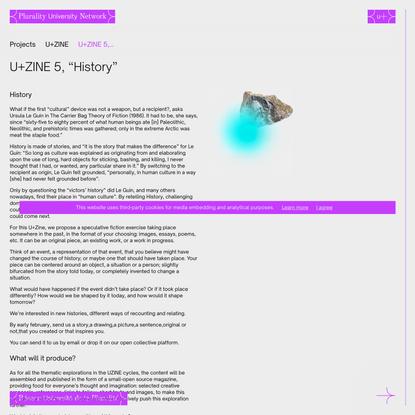 "U+ZINE 5, ""History"" | Plurality University Network"