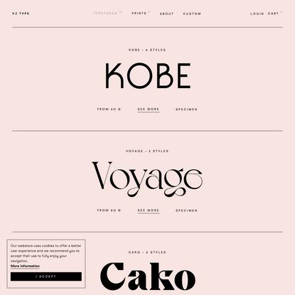VJ Type Typefaces