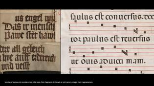 14th-15th Century Handwritten scripts, mechanically reproduced: Textura Gothic & Rotunda-fragmentarium, via Ricardo Olocco