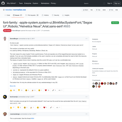 "font-family: -apple-system,system-ui,BlinkMacSystemFont,""Segoe UI"",Roboto,""Helvetica Neue"",Arial,sans-serif · Issue #665 · n..."