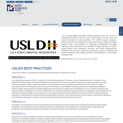 Digital Humanities   Arte Publico Press