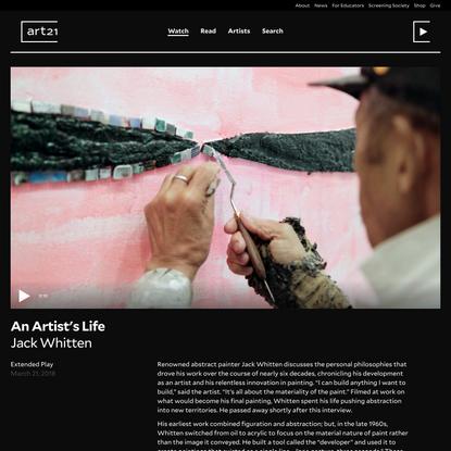 An Artist's Life, Jack Whitten — Art21