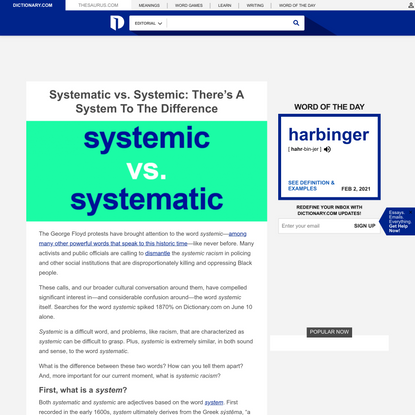 Systematic vs. Systemic: There's A System To The Difference