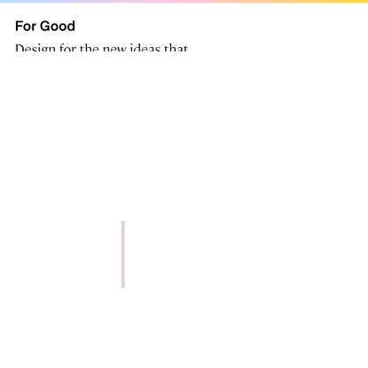 For Good Design Lab