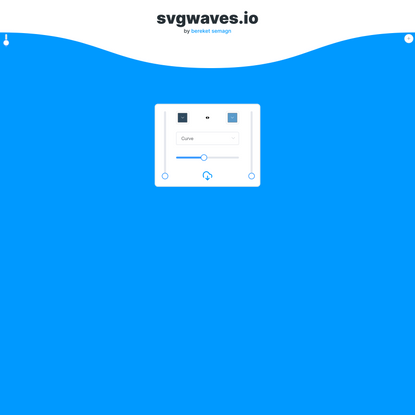 SVG Waves - Instantly generate waves
