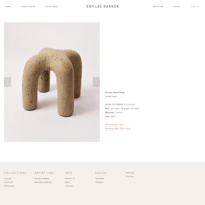 Ceramic Stitch Stool — ENY LEE PARKER