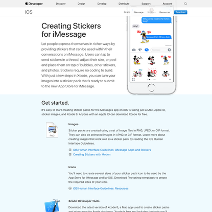 Creating Stickers for iMessage - Apple Developer