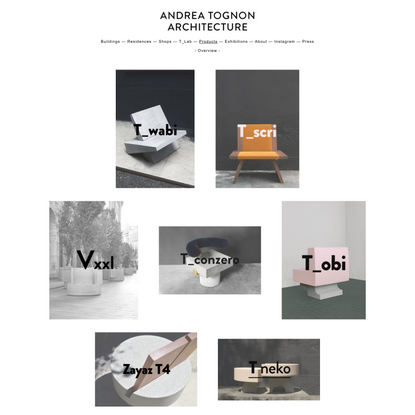 Overview - Products - Andrea Tognon