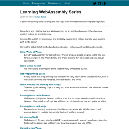 Learning WebAssembly Series