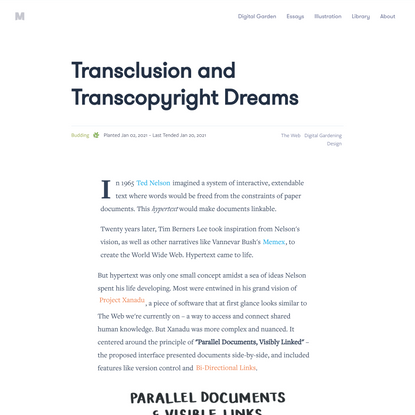 Transclusion and Transcopyright Dreams