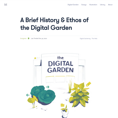 A Brief History & Ethos of the Digital Garden