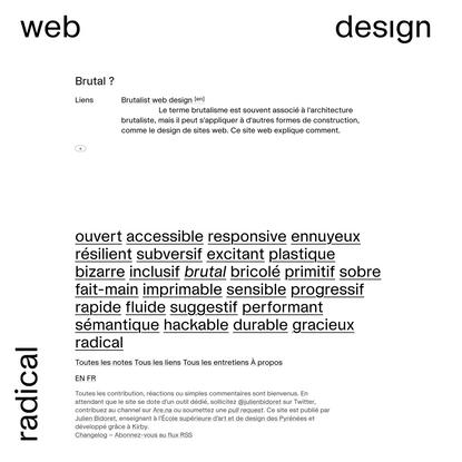 Brutal | Radical web design
