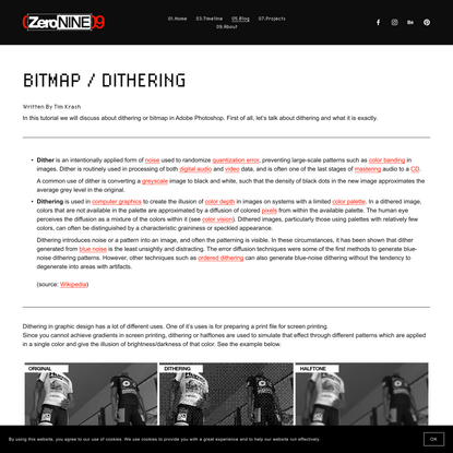 Bitmap / Dither Effect Photoshop Tutorial — 09UNIT / Design Lab