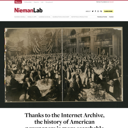 Thanks to the Internet Archive, the history of American newspapers is more searchable than ever