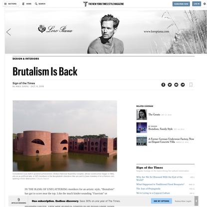 Brutalism Is Back