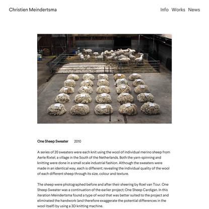 One Sheep Sweater — christienmeindertsma