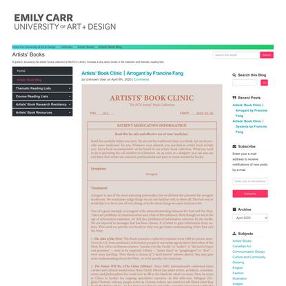 Artists' Book Blog - Artists' Books - LibGuides at Emily Carr University of Art & Design