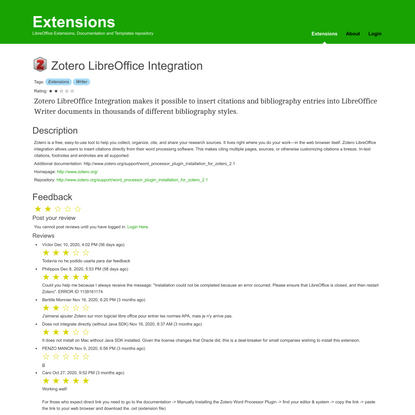Zotero + LibreOffice