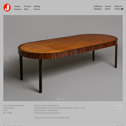 Jacksons - 'Record' Extending Dining Table - Axel Einar Hjorth