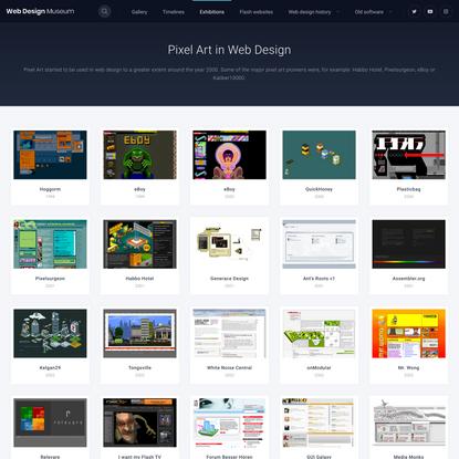 Pixel Art in Web Design   Web Design Museum