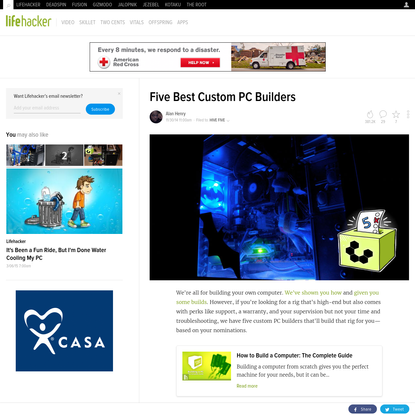 Five Best Custom PC Builders