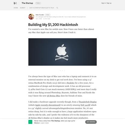 Building My $1,200 Hackintosh - The Startup - Medium