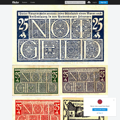 Notgeld, German Emergency Currency - Notes between 1914 and 1923. A private collection.
