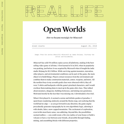 Open Worlds — Real Life
