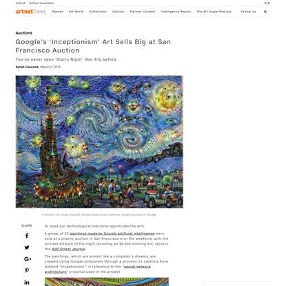 Google's Artificial Intelligence Paintings Auction - artnet News
