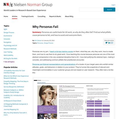 Why Personas Fail