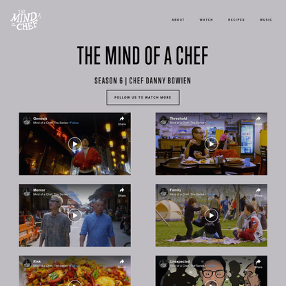 The Mind of a Chef - Mind of a Chef Season 6